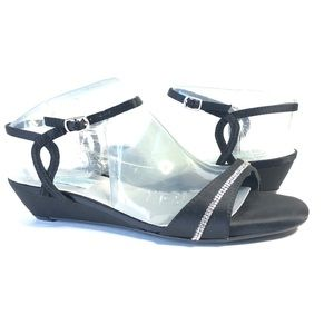 Dyeables Inc Mallory Dress Sandal Wedge Satin 8.5M